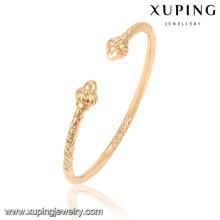 51510 Xuping nouveau design en gros plaqué or indien bracelets sans pierre