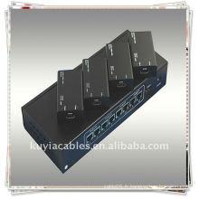 HDMI EXTENDER (Un signal d'entrée HDMI est distribué et étendu à quatre affichages HD par les huit morceaux de cat5e / 6)