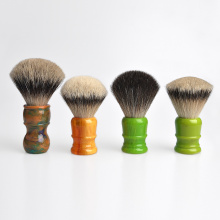 Badger hair beard brush with resin handle