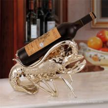 home dekorative kundenspezifische Design Tier Thema Hummer Form einzigen Wein Flasche Inhaber