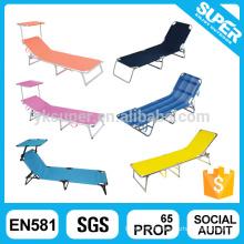 Outdoor lightweight lounge rollaway foldable chair folding beach bed