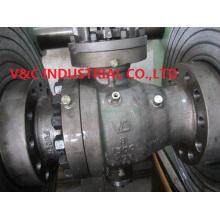 Válvula de esfera de flange de montagem de trunhão em alta pressão