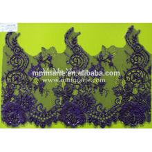 Beaings Heliotrope fashion rose 100% polyester lace fabric for Clothing CRL012B