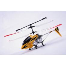 Promoción Navidad regalos 3.5ch Rc helicóptero con giroscopio amarillo de la aleación