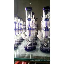 Tubos de agua de vidrio rectos con filtros dobles