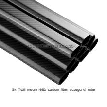 Tube de fibre de carbone d'octogone 2017, boom de huit-fibre de fibre de carbone Multicopter