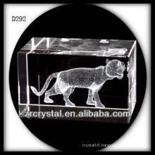 K9 3D Laser Subsurface Tiger Inside Crystal Block