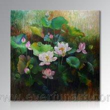 Wanddekoration Schöne Lotusblütenmalerei (ERH-108)
