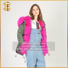 Neueste echte europäische Stil Winter warme Jacke Frauen Pelz Parka