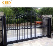 Elegant custom colors welded iron main gate designs for home