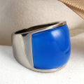 Mens Stainless Steel Cincin Berlian berwarna-warni