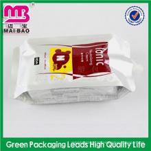 muitas amostras para bolsa de embalagens de detergente líquido de espuma livre com bico