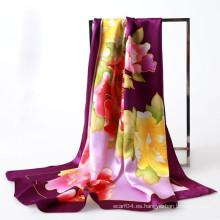 Pintura cuadrada de seda de la bufanda del 100%