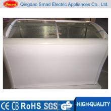 Congelador de la puerta de cristal del equipo del servicio del supermercado