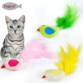 Catnip Cat Toys Pássaro Pena Pet Kitten Toy Toy 3 cores mix