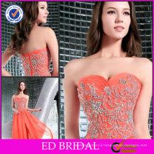 Graceful OEM Service A-line Strapless Sweetheart Neckline Beaded Dollar Evening Dresses ED-YH223