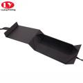 Черная магнитная шаль подарочная коробка с лентой