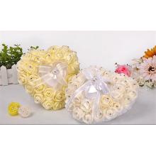 Cerimônia de cerimônia de noiva decoração de alta qualidade linda almofada de aluguel de anel atacado