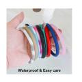 Llavero de brazalete de silicona personalizado
