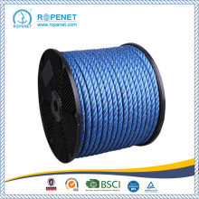 Perlindungan UV 3 Strands Twisted PP Blue Rope