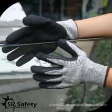 SRSAFETY cut resistant 5 level gloves rubber safety gloves