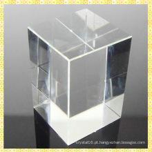 Atacado K9 Em Branco Crystal Glass Block Cube Cristal Paperweight