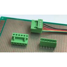 Blocs de jonction enfichables PCB de pas 3.96MM