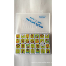 urea educational toy domino game with customize hot transfer printing