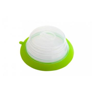 Collapsible Silicone Plate Topper silicone jar lids
