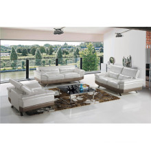 Modern Leather Sofa Siliver Color for Home Used