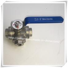 3-ходовой шаровой клапан из нержавеющей стали, 3-ходовой клапан