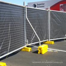 Günstige geschweißte temporäre Zaun mit PVC-Füßen