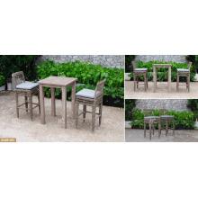 DEVON COLLECTION - La venta al por mayor de los muebles al aire libre de la rotén del PE de la alta barra fijó para los muebles al aire libre