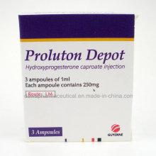 Caproato de hidroxiprogesterona inyectable