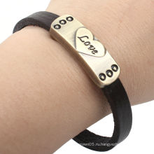 Кожаный браслет оптом для влюбленных KSQN-16