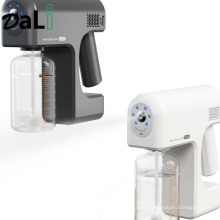 New 400 Ml Wireless Electric Sanitizer Sprayer Disinfects Blue Light Home Office Sterilizing Nano Spray Gun Sprayer Atomizer