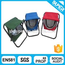 Mini folding fishing cooler stool/fishing stool with cooler bag