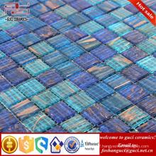 China supply hot sale products blue mixed Hot - melt swimming pool mosaic tile