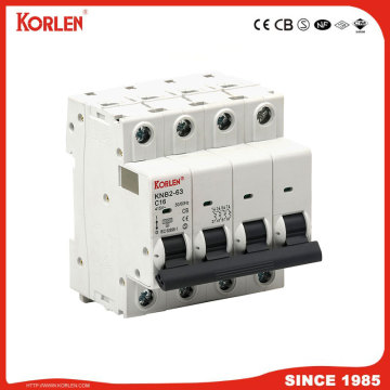 KNB2-63 Disjoncteur miniature Protection des circuits contre les courants de court-circuit 10KA