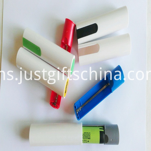 Promotional Cylinder ABS Power Bank 2600mAh_5