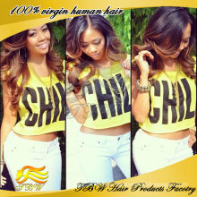 Wholesale brazilian virgin human hair ombre full lace wig color #1b/#4