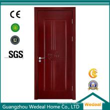 Дверь из красного дерева из шпона из шпона МДФ (WJM702)