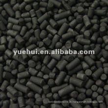 4,0 mm Carvão carbônico cilíndrico a base de carvão para Solvent Recovery ZH40