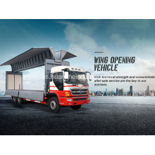 Dos ejes Wing Opening Truck Box Body Vehicle