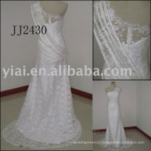 2011 newest arrival low price free shipping high quality short Real lace bridal dress JJ2430