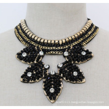 Ladies Costume Jewelry High Quality Crystal Chunky Choker Necklace (JE0135)
