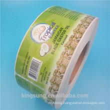2018 Hot Sale Custom Printing Food Jar Sticker, Food Sticker Label With High Quality