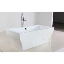 White Acrylic Hot Tub in Freestandy Type
