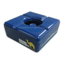 Square Blue Camel Ashtray with Lid