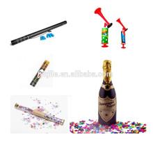 Geburtstag Konfetti Cannon & Winebottle Sekt Champagner Party Popper